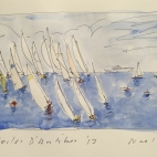 Yacht racing in Antibes