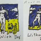 With dog. without dog