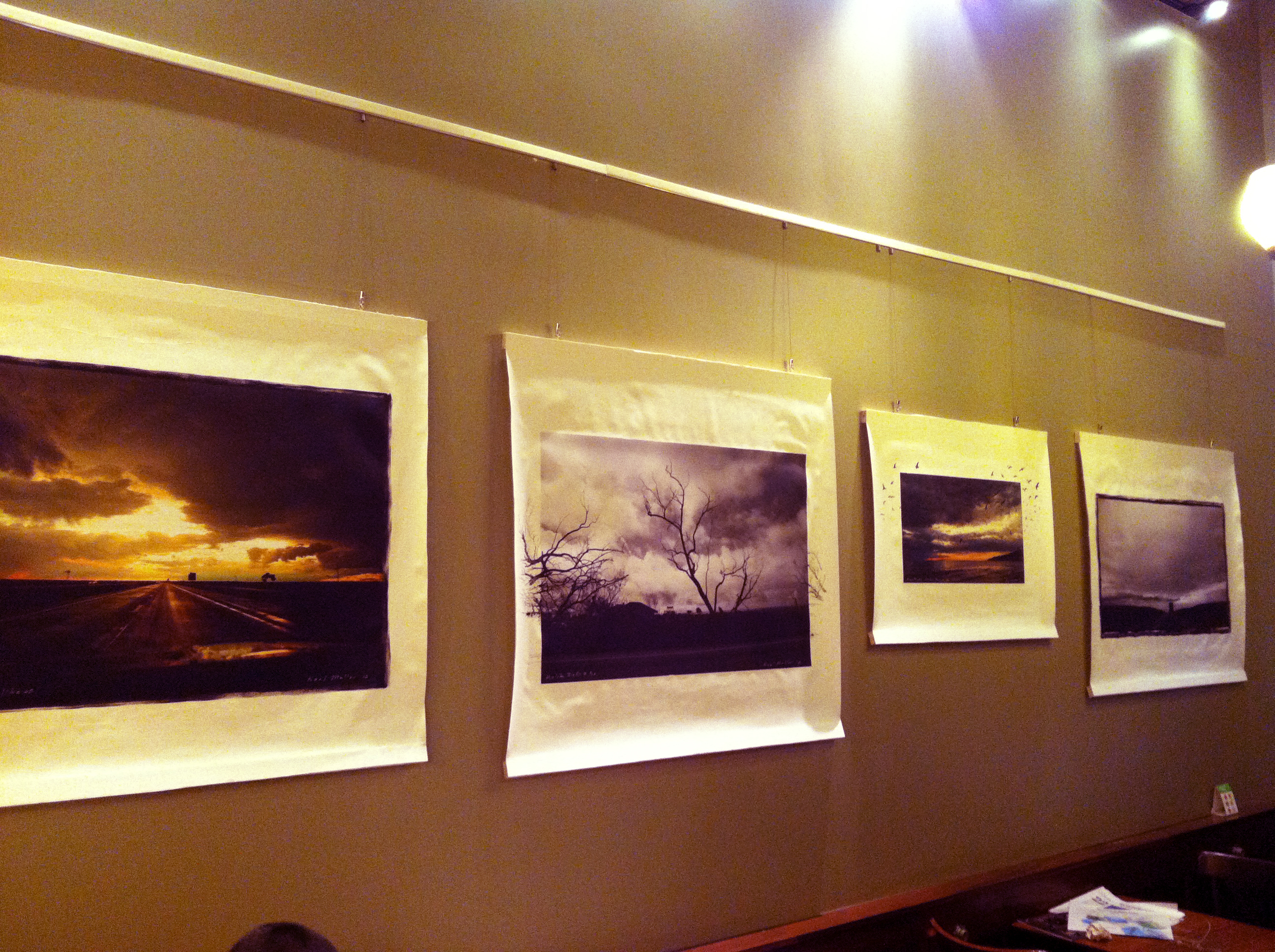 Neel\'s manipulated photographic canvases recently on display at ...